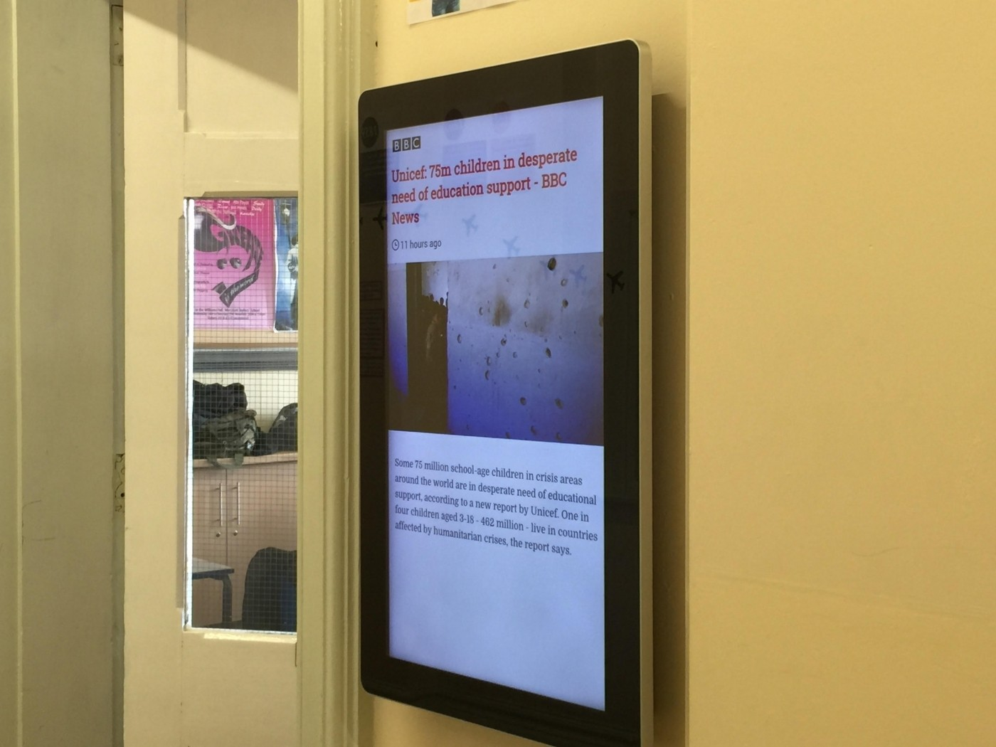 Digital Signage in Education for Merchant Taylors' Schools