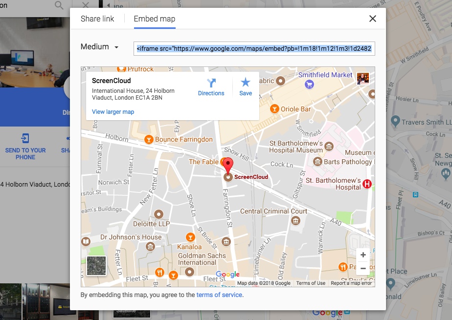 Google map embed code