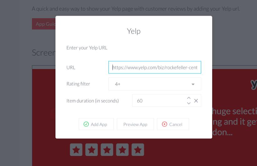 ScreenCloud Yelp App Guide - ScreenCloud
