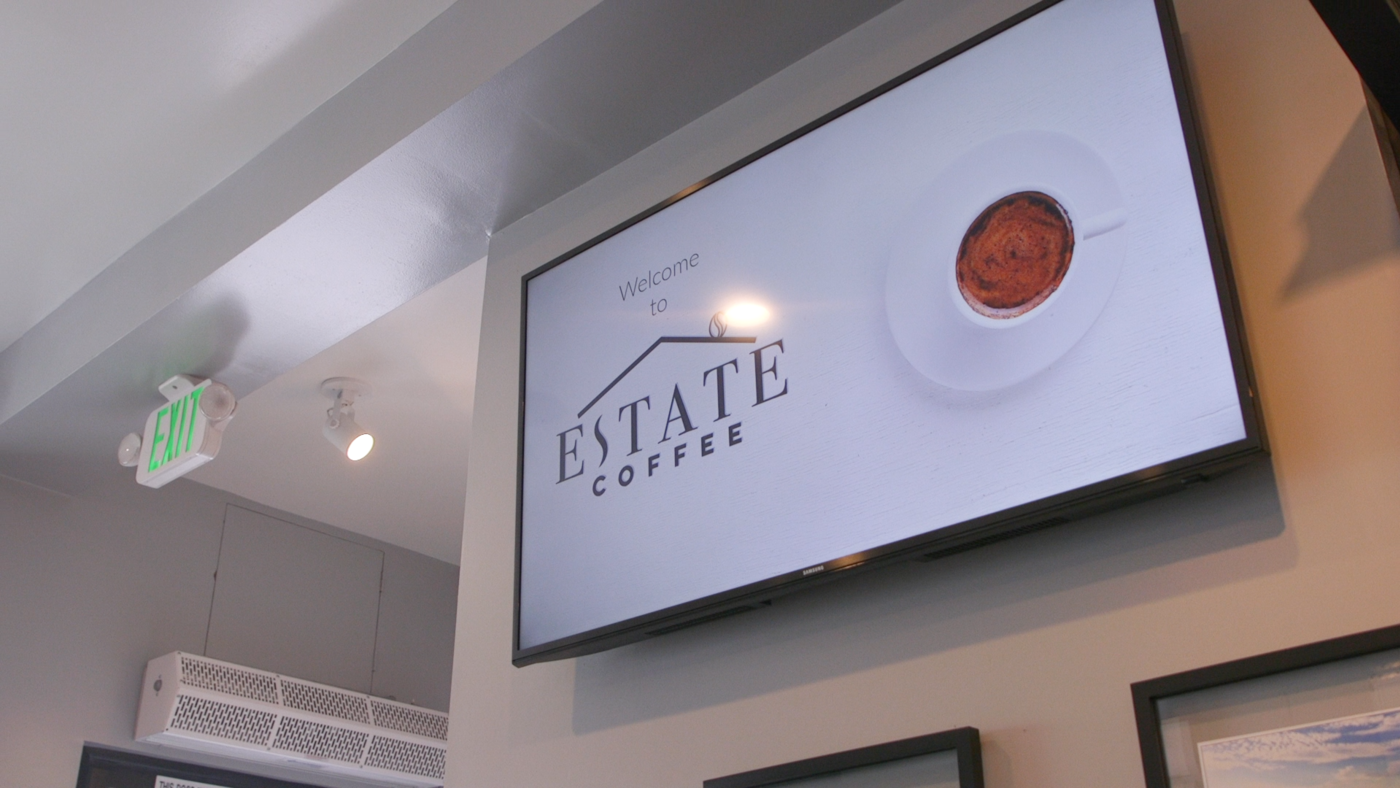 Estate Coffee and ScreenCloud