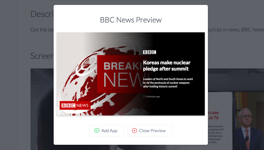 BBC dark theme