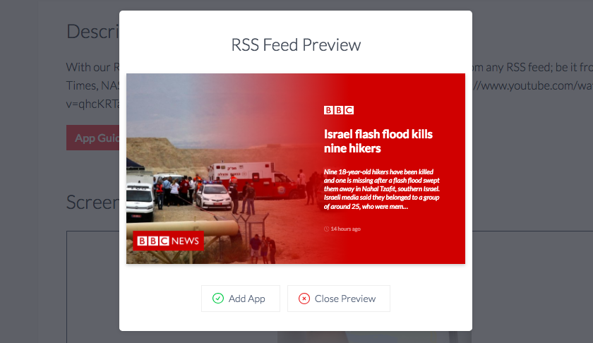 ScreenCloud RSS Feed App Guide - ScreenCloud