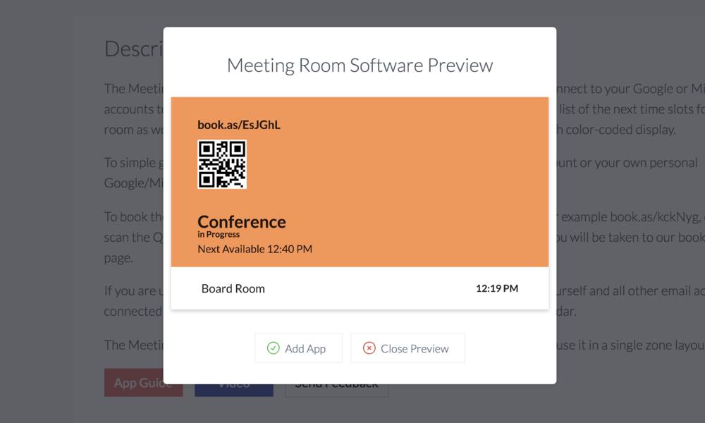 ScreenCloud Meeting Room Scheduling Software - ScreenCloud