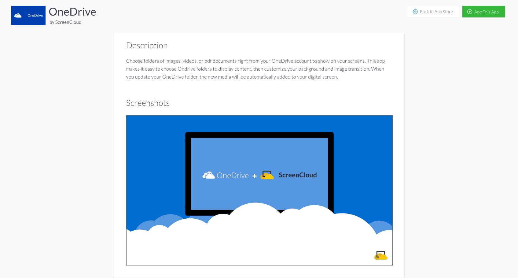 ScreenCloud OneDrive Gallery App Guide - ScreenCloud