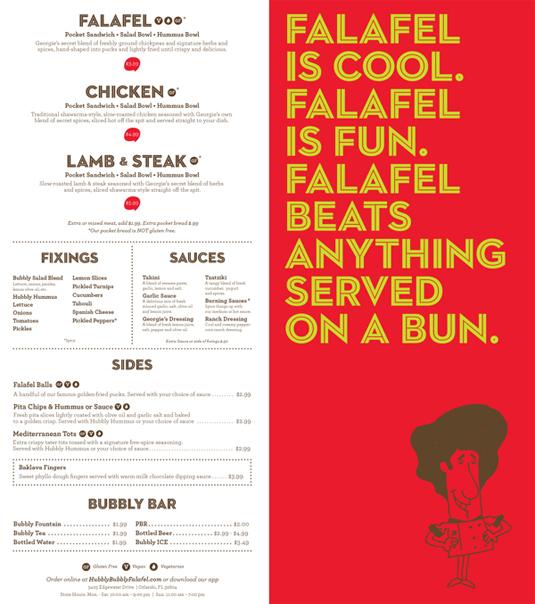 falafel fun digital menu board