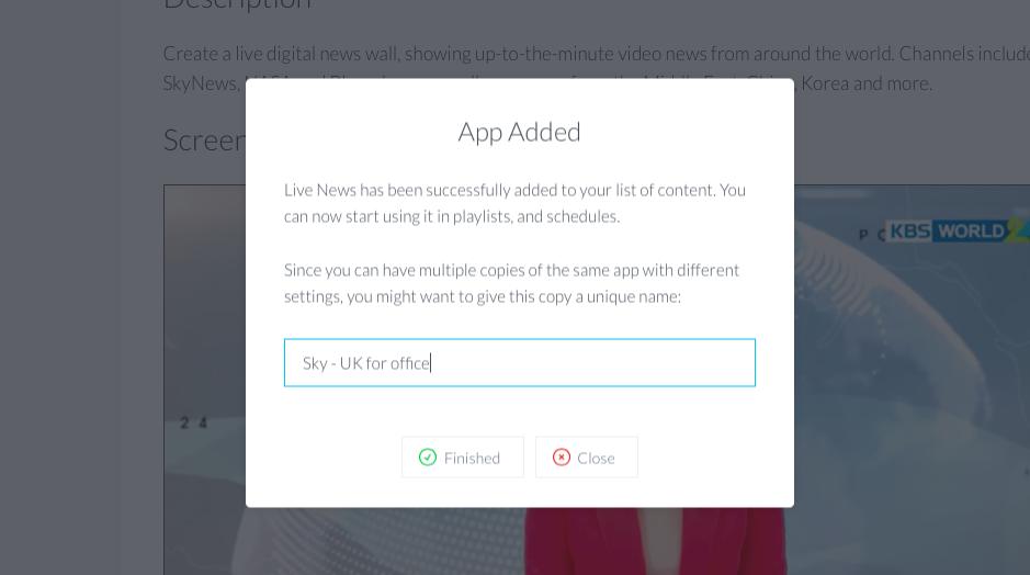 ScreenCloud Live News App Guide - ScreenCloud