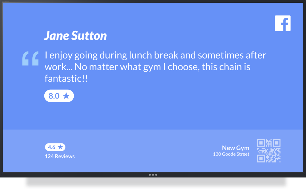 Digital Signage for Gyms & Fitness Centers App Example