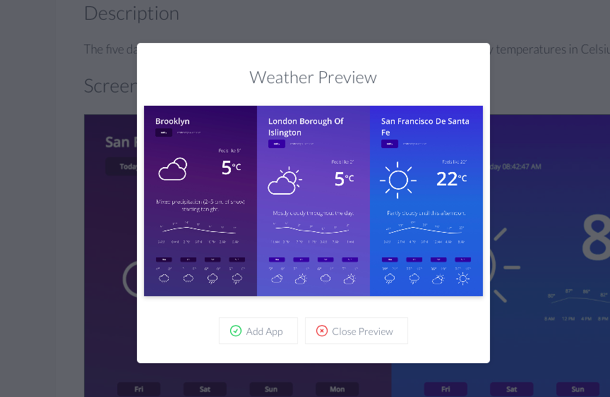 ScreenCloud Weather App Guide - ScreenCloud