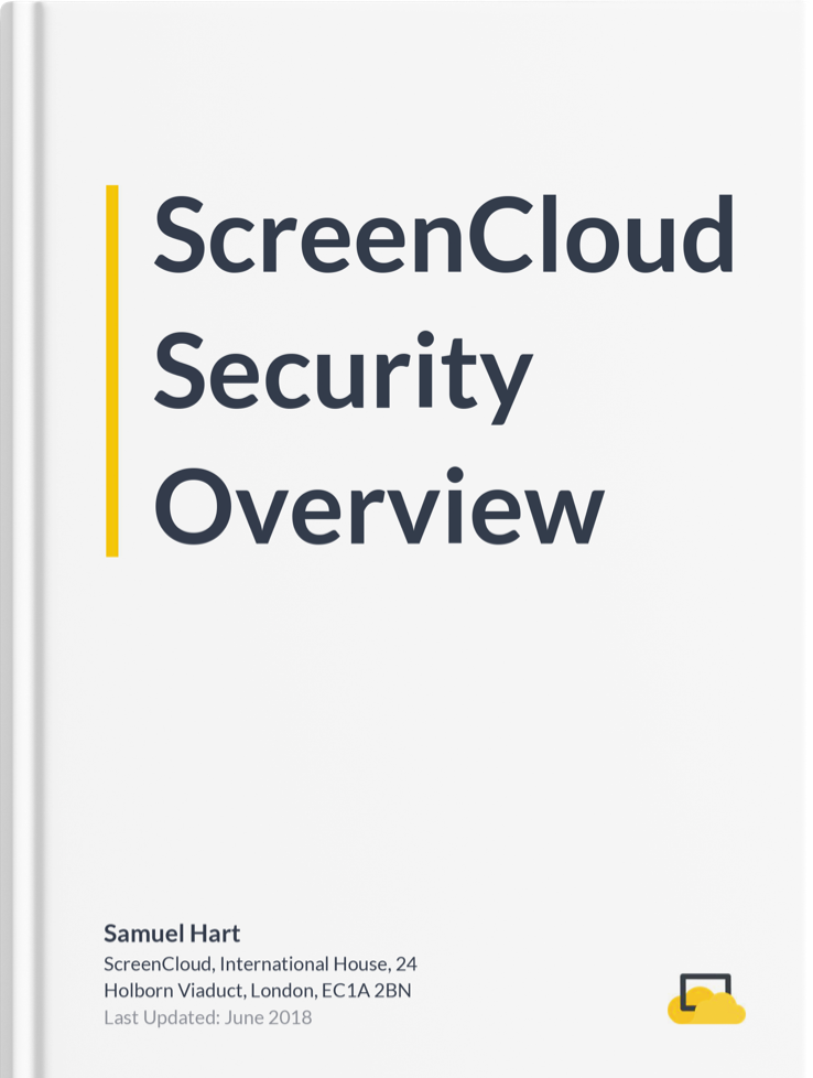 ScreenCloud security overview