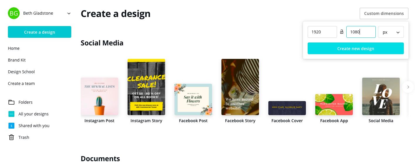 designing for digital signage using Canva