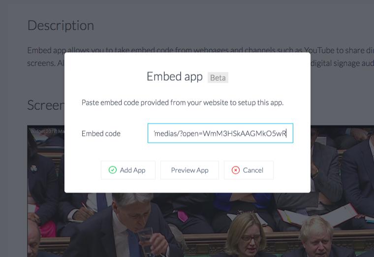 Embed app