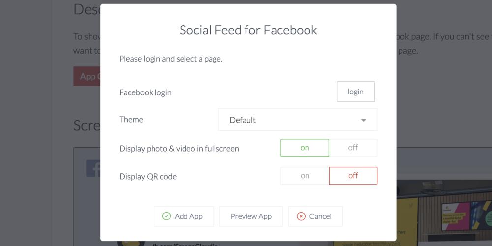 ScreenCloud Facebook App Digital Screen Guide - ScreenCloud