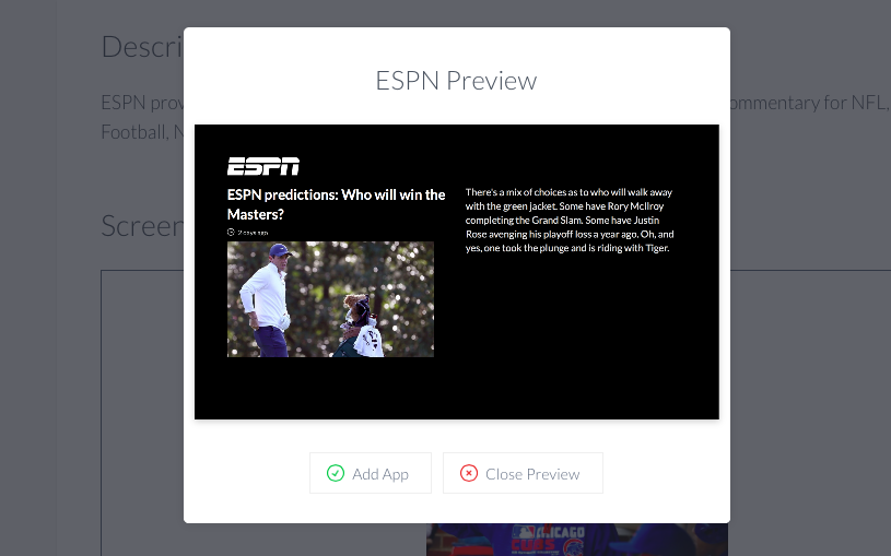 ScreenCloud ESPN App Guide - ScreenCloud