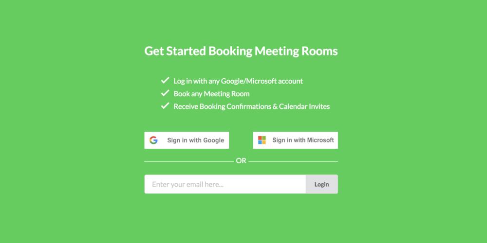 Meeting Room App - Login & Book 10.31.2018